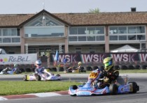 third round of the wsk master series on the racetrack of precenicco