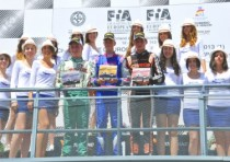 the winners of the first round of the cik fia european championship at the motorland aragon of alcaniz are nielsen kosmic vortex kf and norris fa kart vortex kfj