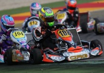 first hit for crg and max verstappen the european cik fia kfekfj round of alcaniz spain