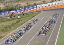 sorensen tony vortex kf and norris fa kart vortex kfj achieve the pole of the cik fia european championship alcaniz