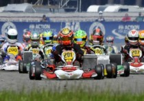 the cik fia celebrates its european champions max verstappen crg tm winner kf and kz lando norris fa vortex kfj and emil antonsen dr tm kz2
