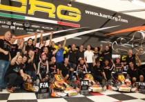 crg triumphant genk with verstappen kz and tiene kz2 max verstappen is the new european cik fia kz champion