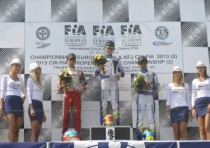 ortona the winners of the cik fia kf and kfj european championship are verstappen crg tm and norris fa vortex