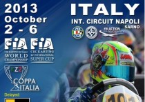 the napoli international circuit of sarno hosts the cik fia world kfj championship and the cik fia international kf super cup from k3rd to k6th october