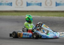 wsk super master series baby race two podiums and great show