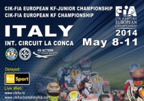 the european cik fia championship for the kf and kf junior categories starts next week muro leccese lecce italy from k8th to k11th may with the first out of five rounds
