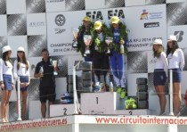 the k2 round of the cik fia european kf kfj champs on the circuit of zuera was won by joyner gb zanardi parilla kf and haaga s kosmic lke kfj