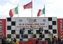 the wsk champions cup ends muro leccese the winners are nicklas nielsen dk tony kart vortex kf logan sargeant usa fa alonso vortex kfj and dennis hauger n crg lke vega k60 mini