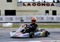 the wsk champions cup muro leccese italy has its pole sitters nielsen dk tony kart vortex kf and colombo tony kart lke kfj hauger n crg lke k60mini sets the best time free practice