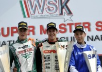 the wsk super master series finishes sarno the race winners are puhakka fin crg maxter kz2 tiene crg parilla kf de pauw b birelart parilla kfj and marseglia zanardi tm k60mini