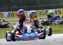 on the circuit of sarno at the wsk super master series the pole sitters are nielsen dnk tony kart vortex kf camponeschi tony kart vortex kz2 and muller energy tm k60mini