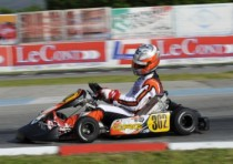 at the european cik fia kz and kz2 championship sarno sa the leaders qualifying are ardigo tony kart vortex kz and siebecke d crg modena kz2