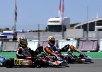 ben hanley gb croc tm and kenny roosens b kosmic parilla are the first leaders of the cik fia european championship for the kf and the kfj categories after the season opener portimao