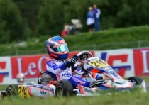 the pole sitters of the european cik fia kf and kfj championship at the asum ring kristianstad are nielsen dk tony kart vortex kf and roosens b kosmic parilla kfj