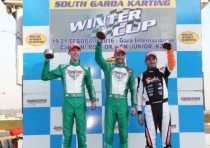 marco ardigo wins the k21st winter cup kz2 the other winners are nielsen ok kenneally ok junior and pizzi mini