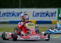the pole sitters of the wsk super master series at the k7 laghi castelletto italy are de conto crg maxter kz sargeant usa fa kart vortex ok and de pauw b birelart parilla okj