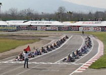 karting on track sarno the battle has begun with the races of the wsk super master series