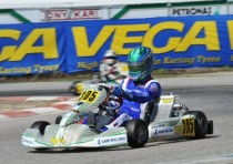 after the second round of sarno of the wsk super master series ardigo tony kart vortex kz pollini crg tm kz2 hiltbrand crg parilla ok shvetsov rus tony kart vortex okj and mini energy tm k60mini lead the standings