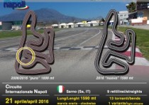 motorsport sarno italy new track layout for the racing s make up of circuito internazionale napoli