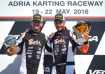 two sodis on the k2016 wsk super master podium