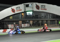 the wsk night edition lights up the nights at the adria karting raceway
