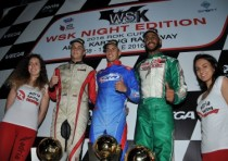 the wsk night edition concludes its racing nights at the adria karting raceway with the victories of bedrin rus tony kart tm k60mini smolyar rus tony vortex ok bogdanov rus fa vortex okj and pelizzari ckr tm kz2