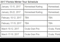 k2017 florida winter tour schedule released