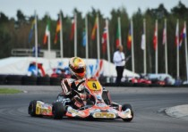 the cik fia kz world karting championship starts kristianstad s with the pole position for de conto crg tm pole also for hiltbrand crg maxter kz2 supercup and for nilsson s academy trophy