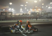 at the cik fia world championship bahrain basz kosmic vortex ok and vidales tony kart vortex okj are the frontrunners after their successes the heats