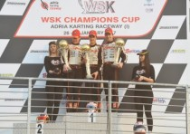 the wsk champions cup finished at the adria karting raceway with the victories of hiltbrand tony kart vortex ok pex nl crg tm kz2 morozov rus tony kart vortex ok junior and spina crg tm k60 mini