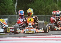 de conto crg tm kz and viganò tony kart vortex kz2 grab the leadership of the cik fia european championship